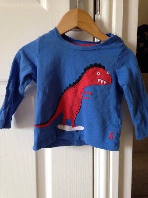 Joules Monster Dragon Top 9-12 Months