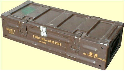Ammo Box Can 25x10x6 inch Military Army Issue Metal Storage Case HEAVY DUTY