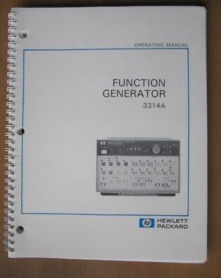 Operations Manual HP Function Generator 3314A