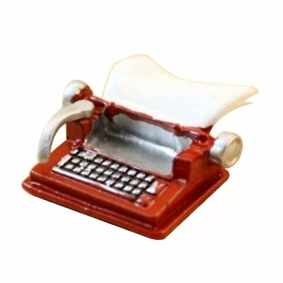 Vintage Typewriter Dollhouse Miniature 1:12 Scale Fairy Doll Home Life Scen S2X2