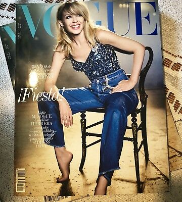 Vogue Spain July 2018. Kylie Minogue.