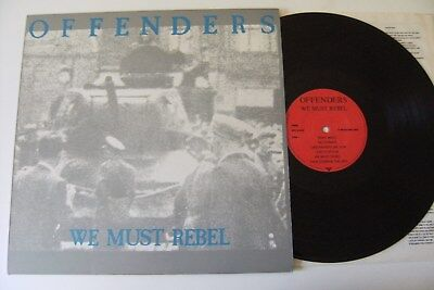 The Offenders - We Must Rebel Lp Vinyl German Reissue Fugazi Bad Religion Snfu