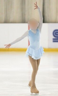 Jerry's ice-blue figure skating competition dress (Girls 12-14yrs)