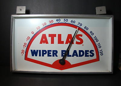 Vintage Atlas Wiper Blades Thermometer Working No Reserve