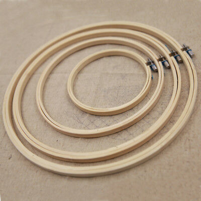 Stitch Embroidery Hoop Ring Set Frame Tool 15-27cm Bamboo Cross High Quality