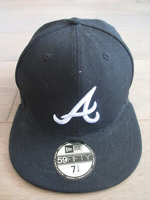 Base Cap - NEW ERA CAP MLB ATLANTA BRAVES 59FIFTY - Farbe: schwarz / weiß