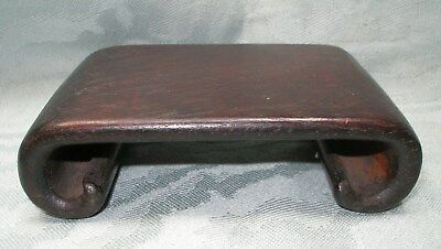 Dark Wood Asian  Display Stand Chinese /japanese  Scroll Legs