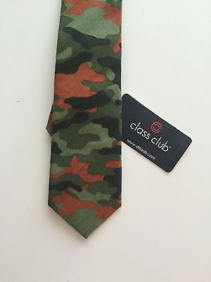NWT!  Boy's Camo Tie, 100% Cotton, By Class Club