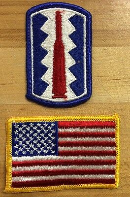 US Army 197th Infantry Brigade USA Flag Flagge Reforger Uniform patch Aufnäher