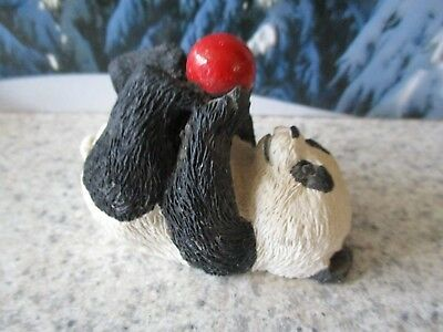 """1986 Sandicast Baby Black Bear Cub 3.5"""" Figure Napping Collectible Vintage"""