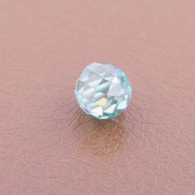 Blue Diamond Round Cut Drilled Loose Bead - AAA Certified - Earth Mined -2.95 Ct