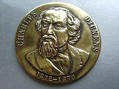 "Token / Coin: Charles Dickens, 1812 / 1870. (Made In England (1""1/2) (Brass)"