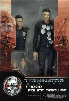 """T-1000 POLICE DISGUISE #2 Terminator Genisys 7"""" inch Action Figure Neca 2015"""