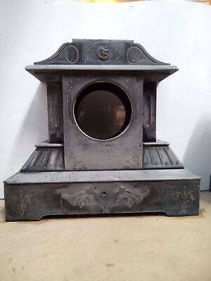 Antique slate clock case for restoration