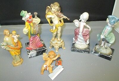 Lot of 6 Vintage Depose Italy Figures