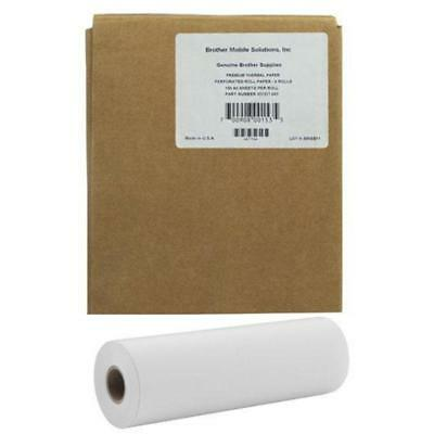 GENUINE Brother PocketJet A4 Perforated Thermal Paper Roll 6 pack