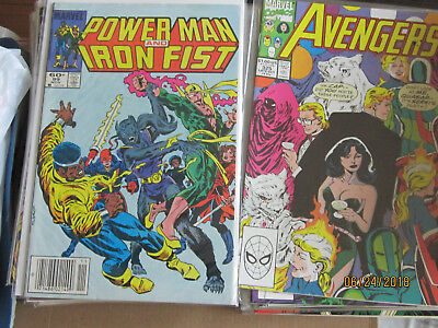 LOT OF 24 POWER MAN AND IRON FIST & Avengers COMIC BOOKS