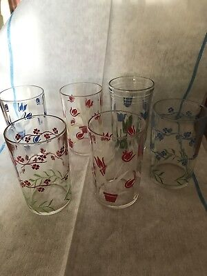 Vintage  6  Swanky Swig Kraft Cream Cheese Spread Juice Glasses
