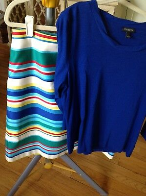 Talbots SZ 12 Skirt & SZ L Top Bought Together EUC