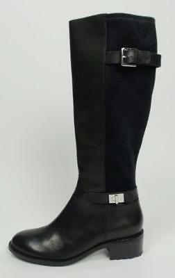 New Cole Haan Air Kinley Black Leather Knee High Riding Boots Size 10b