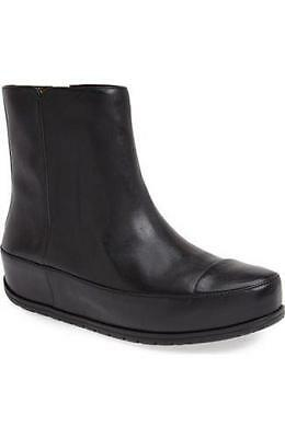 NEW FitFlop 'Duéboot' chelsea Boots, Black Leather, Women Size 7.5