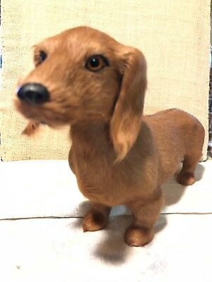 Realistic Lifelike Dachshund Rabbit/goat Fur Animal Glass eyes