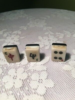 Vintage Small Ceramic/stone Domino Shaped