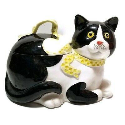 Vintage Fitz and Floyd Cat Large Trinket Box Figurine Rare Collectible 1983