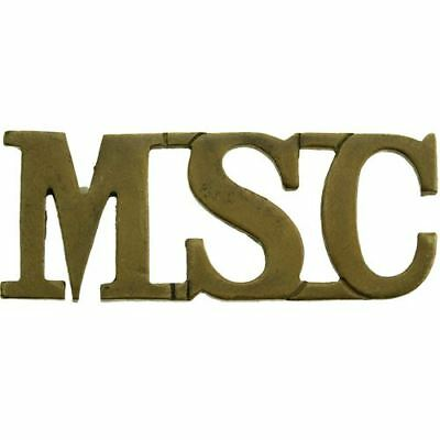 Victorian Medical Staff Corps MSC (Royal Army RAMC) Shoulder Title Badge - IC07