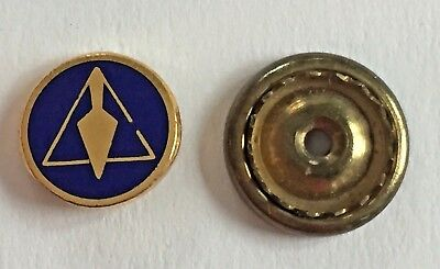 Vintage Masonic Screw Back Lapel or Hat Pin - Trowel and Broken Triangle Symbol