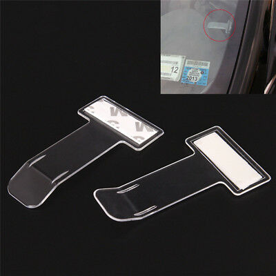 5 Pcs Portable Car Windscreen Parking Ticket Clear Permit Holder Clip Sticker ZY
