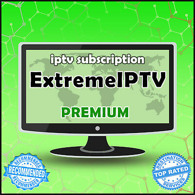 """1 Month"" Extreme IPTV +30000 Ch&VODs WORLDWIDE ""PREMIUM"" IPTV SUBSCRIPTION"