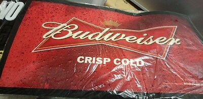 BUDWEISER THICK RUBBER HEAVY DUTY BAR RUNNER 45cm x 18cm  pub home bar NEW