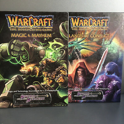 Warcraft RPG - 2x Quellenbuch - Magic & Mayhem + Lands of Conflict - Blizzard