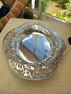 Nice Solid Silver Oval Dish or Bowl Sheffield 1912 Fenton brothers   422gms