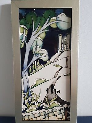 MOORCROFT  Broadway Tower plaque RRP £475. Limited edition 39 of 75.