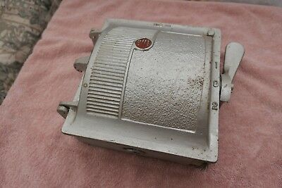 Vintage Retro 1970 Cast Metal Bill 3 Phase Switch Fuse Box 303 CO