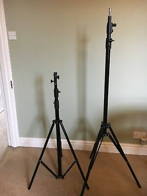 A pair of air-damped studio light stands