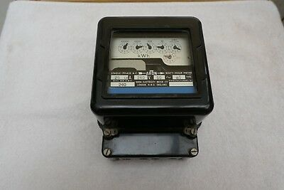 Rare 'Aron Electricity Meter Ltd' dial reading 240V/25A electricity meter