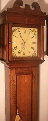 "Antique Slim  Oak  "" Totnes ""    Longcase / Grandfather Clock"