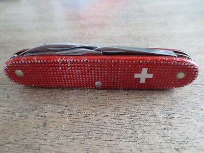 Victorinox Alox rot altes Sack Messer old swiss red alox old cross