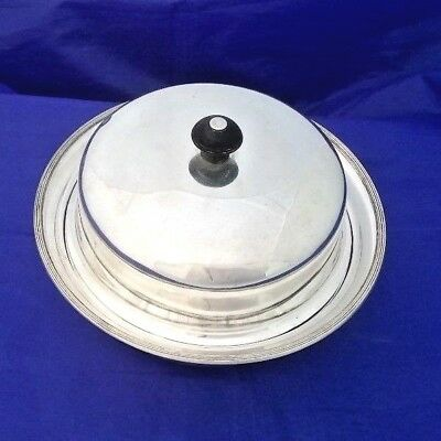Silver Plate Lidded 3 Piece Muffin Dish / Food Warming Dish James Dixon & Sons