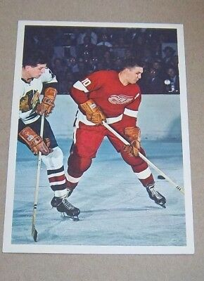 Hockey Stars in Action Toronto Sun 1963-64 Alex Delvecchio lot # 6