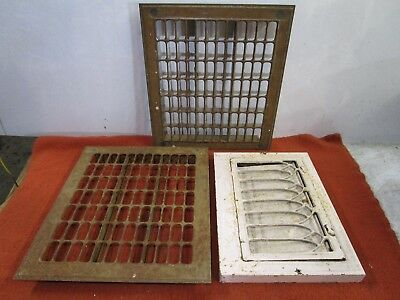 vintage floor wall heat grate steel register (3)