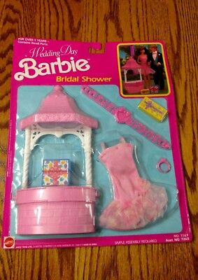 vintage barbie wedding day barbie bridal shower 1990 7267 new in box