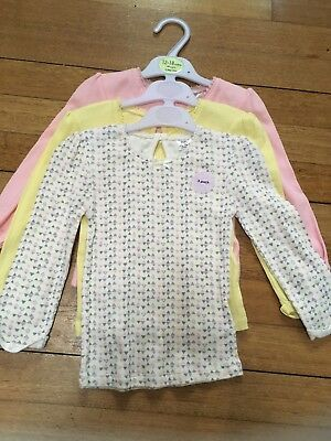 Baby Girls Long Sleeved Tops Bundle 12-18 Months new with tags yellow multi pink