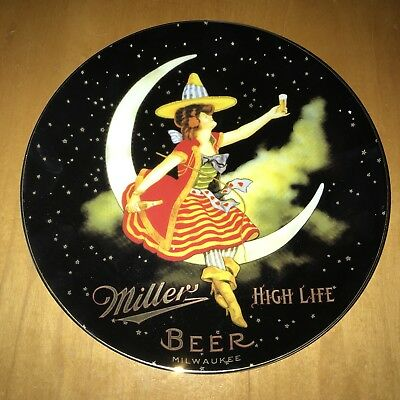 Miller High Life Beer Girl In Moon Collector Plate #834 of 9950 Rare Mint+++