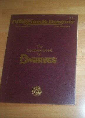 TSR     AD & D 2nd Edition Complete Book of Dwarves