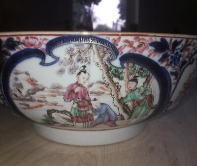 STUNNING HUGE CHINESE BOWL IMPRESSIVE SCENES MING STYLE 18th century
