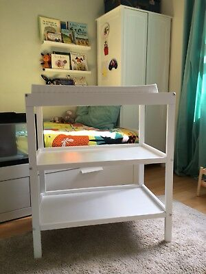 Mothercare White Changing Table Unit with Changing Mat